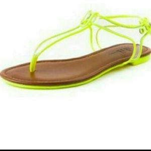 Lucia Neon green sandal